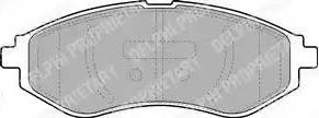 Delphi LP1895 - Set placute frana, frana disc reperautotrans.ro
