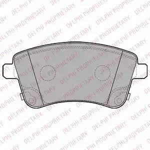 Delphi LP2203 - Set placute frana, frana disc reperautotrans.ro
