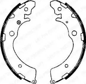 Delphi LS1641 - Setul de frânare, frâne cu tambur reperautotrans.ro