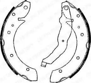 Delphi LS1634 - Setul de frânare, frâne cu tambur reperautotrans.ro