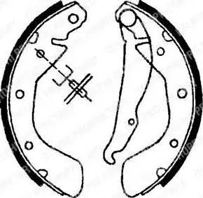 Delphi LS1622 - Setul de frânare, frâne cu tambur reperautotrans.ro
