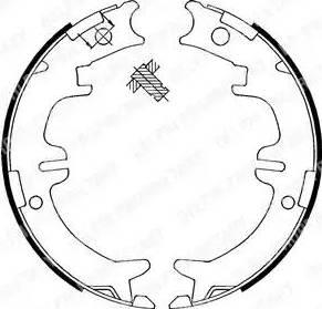 Delphi LS1892 - Set saboti frana, frana de mana reperautotrans.ro