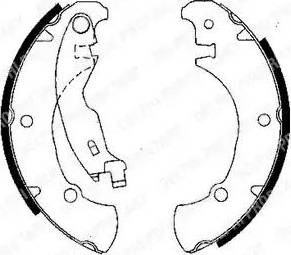 Delphi LS1840 - Setul de franare, frane cu tambur reperautotrans.ro