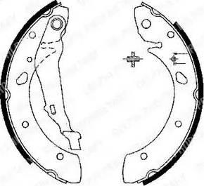 Delphi LS1843 - Setul de franare, frane cu tambur reperautotrans.ro