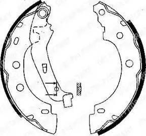 Delphi LS1842 - Setul de franare, frane cu tambur reperautotrans.ro