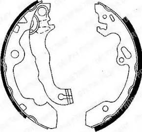 Delphi LS1850 - Setul de franare, frane cu tambur reperautotrans.ro