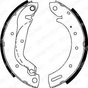 Delphi LS1827 - Setul de franare, frane cu tambur reperautotrans.ro