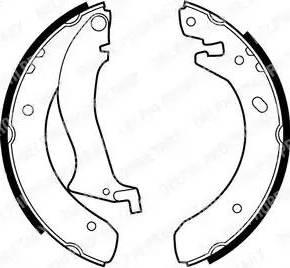 Delphi LS1870 - Setul de frânare, frâne cu tambur reperautotrans.ro