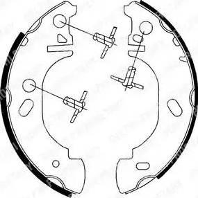 Delphi LS1700 - Setul de frânare, frâne cu tambur reperautotrans.ro