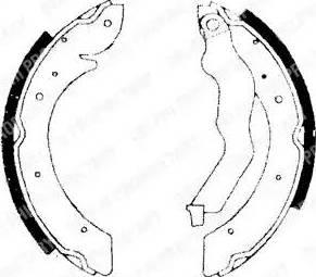 Delphi LS1714 - Setul de frânare, frâne cu tambur reperautotrans.ro