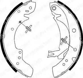 Delphi LS1712 - Setul de franare, frane cu tambur reperautotrans.ro