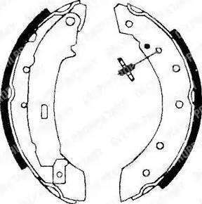 Delphi LS1717 - Setul de frânare, frâne cu tambur reperautotrans.ro