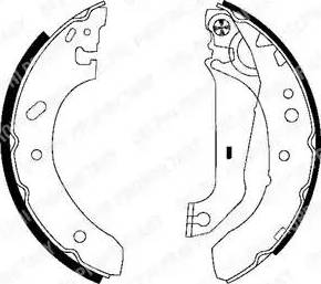 Delphi LS1783 - Setul de franare, frane cu tambur reperautotrans.ro
