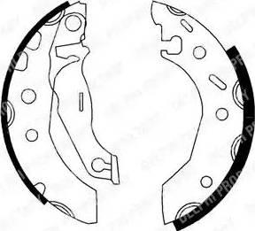 Delphi LS1728 - Setul de franare, frane cu tambur reperautotrans.ro