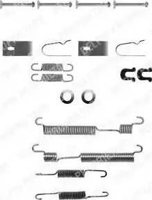 Delphi LY1056 - Set accesorii, sabot de frana reperautotrans.ro