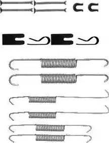 Delphi LY1394 - Set accesorii, sabot de frana reperautotrans.ro