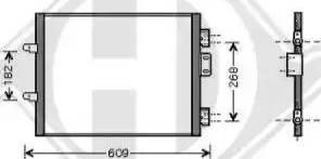 Diederichs 8441303 - Condensator, climatizare reperautotrans.ro