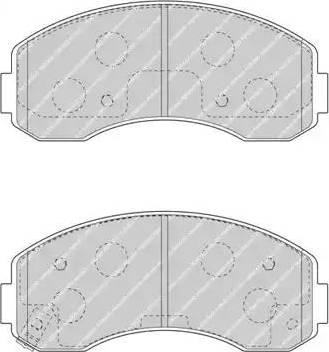 Ferodo FDB4567 - Set placute frana, frana disc reperautotrans.ro