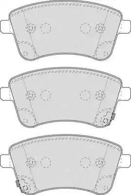 Ferodo FDB4339 - Set placute frana, frana disc reperautotrans.ro