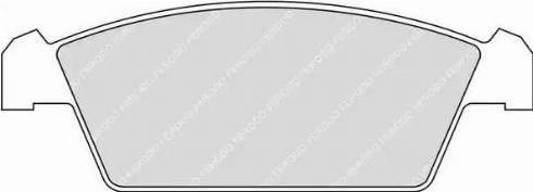 Ferodo FDB1108 - Set placute frana, frana disc reperautotrans.ro