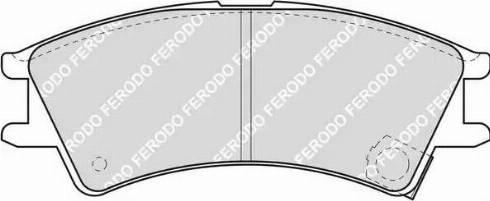 Ferodo FDB1326 - Set placute frana, frana disc reperautotrans.ro