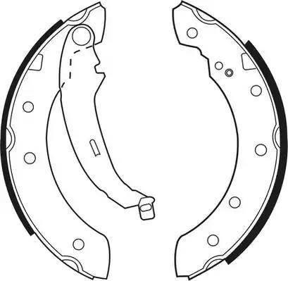 Ferodo FSB519 - Setul de frânare, frâne cu tambur reperautotrans.ro