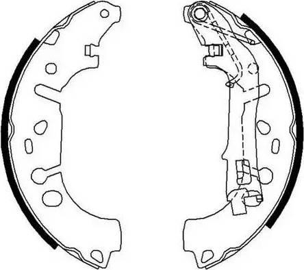 Ferodo FSB682 - Setul de frânare, frâne cu tambur reperautotrans.ro