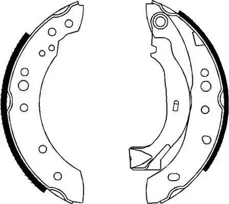 Ferodo FSB626 - Setul de frânare, frâne cu tambur reperautotrans.ro