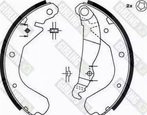 Girling 5162149 - Setul de frânare, frâne cu tambur reperautotrans.ro