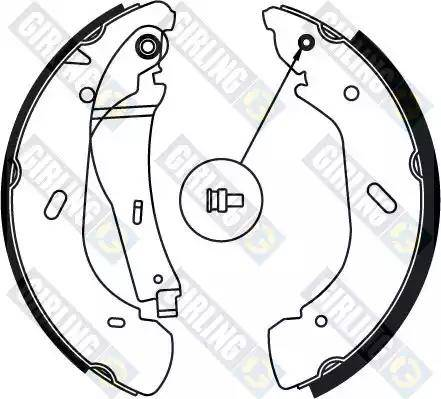Girling 5186904 - Setul de frânare, frâne cu tambur reperautotrans.ro