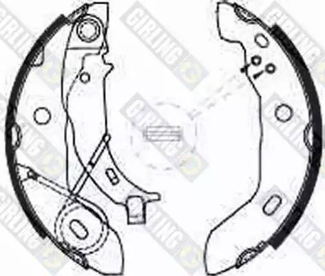Girling 5186271 - Setul de frânare, frâne cu tambur reperautotrans.ro