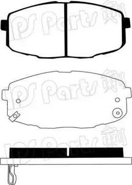 IPS Parts IBD-1K09 - Set placute frana, frana disc reperautotrans.ro