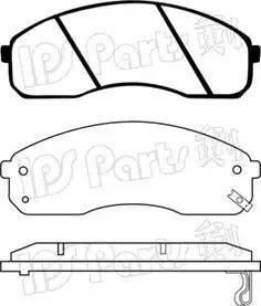 IPS Parts IBD-1K05 - Set placute frana, frana disc reperautotrans.ro