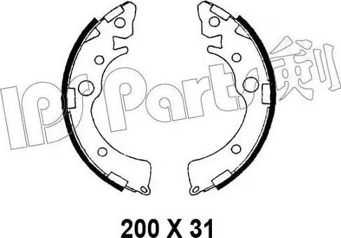 IPS Parts IBL-4412 - Sabot frana reperautotrans.ro