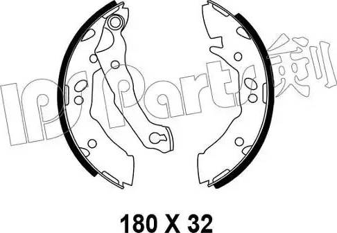 IPS Parts IBL-4595 - Sabot frana reperautotrans.ro
