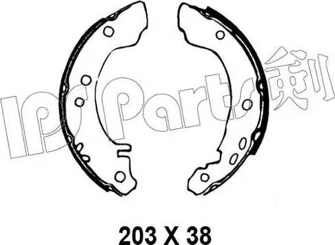 IPS Parts IBL-4010 - Sabot frana reperautotrans.ro