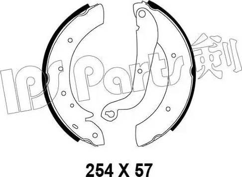 IPS Parts IBL-4195 - Sabot frana reperautotrans.ro