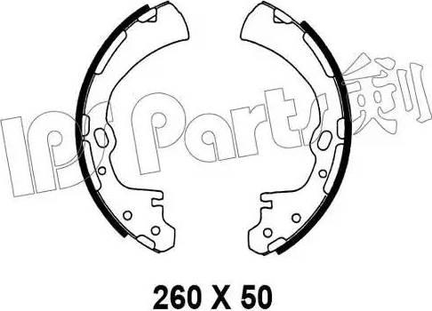 IPS Parts IBL-4138 - Sabot frana reperautotrans.ro