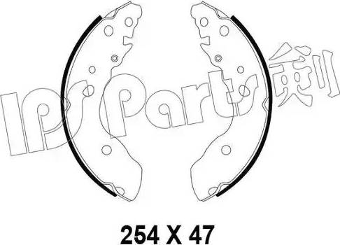IPS Parts IBL-4894 - Sabot frana reperautotrans.ro