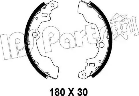 IPS Parts IBL-4808 - Sabot frana reperautotrans.ro