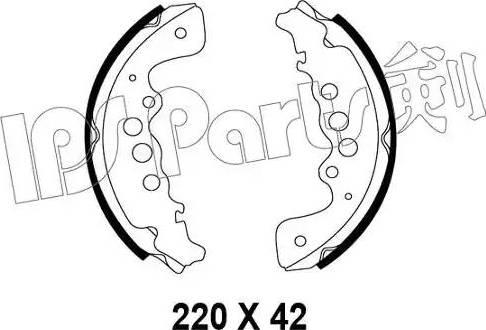 IPS Parts IBL-4818 - Sabot frana reperautotrans.ro