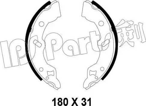 IPS Parts IBL-4399 - Sabot frana reperautotrans.ro