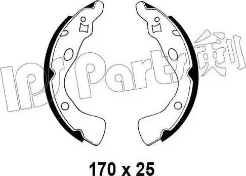 IPS Parts IBL-4330 - Sabot frana reperautotrans.ro