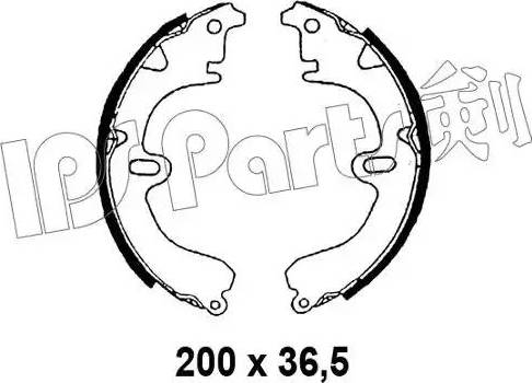 IPS Parts IBL-4298 - Sabot frana reperautotrans.ro