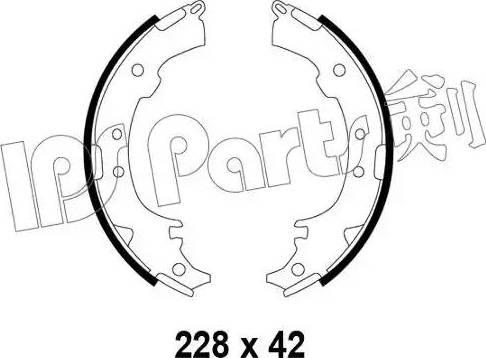 IPS Parts IBL-4297 - Sabot frana reperautotrans.ro
