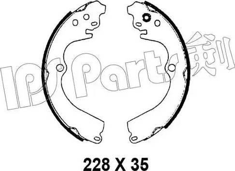 IPS Parts IBL-4798 - Sabot frana reperautotrans.ro
