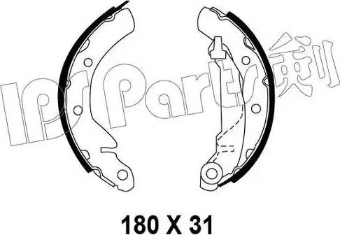 IPS Parts IBL-4W00 - Sabot frana reperautotrans.ro