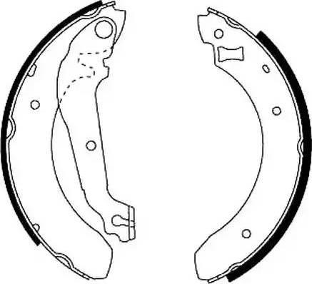 Jurid 361302J - Setul de frânare, frâne cu tambur reperautotrans.ro
