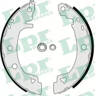 LPR 04920 - Setul de frânare, frâne cu tambur reperautotrans.ro