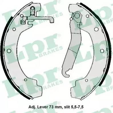 LPR 04570 - Setul de franare, frane cu tambur reperautotrans.ro